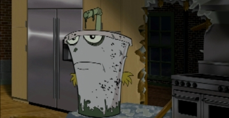 Shake from ATHF makes an awesome zombie...