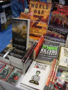 Zombie books seemed to be everywhere.