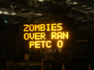 Zombies were in Petco Park too, apparently...
